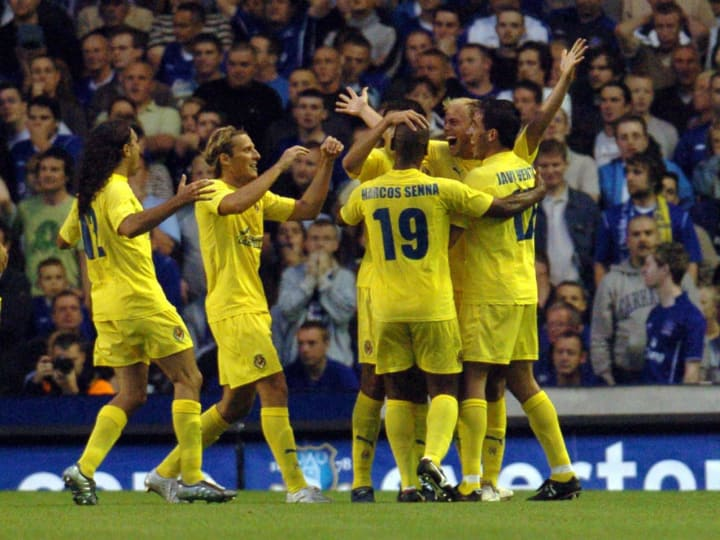 Villarreal's Luciano Figueroa celebrates
