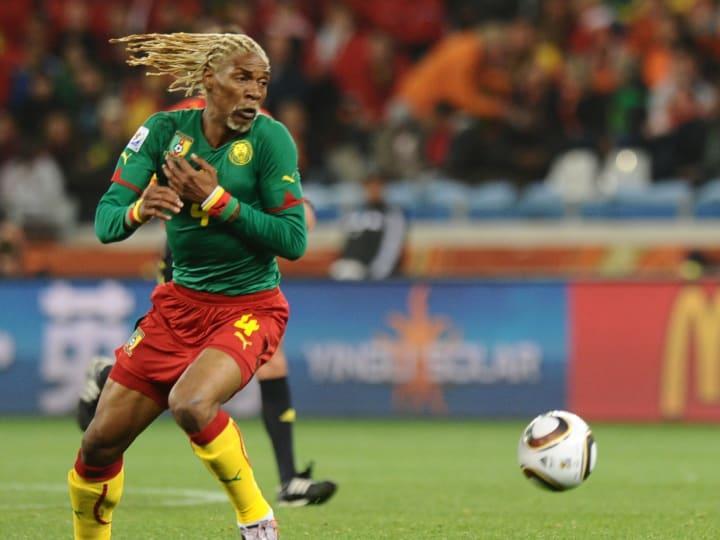 Cameroon's defender Rigobert Song eyes t