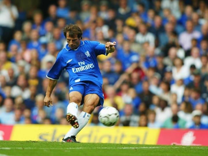 Gianfranco Zola scores second goal
