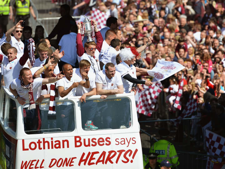 Hearts of Midlothian - Scottish Cup Final Trophy Parade