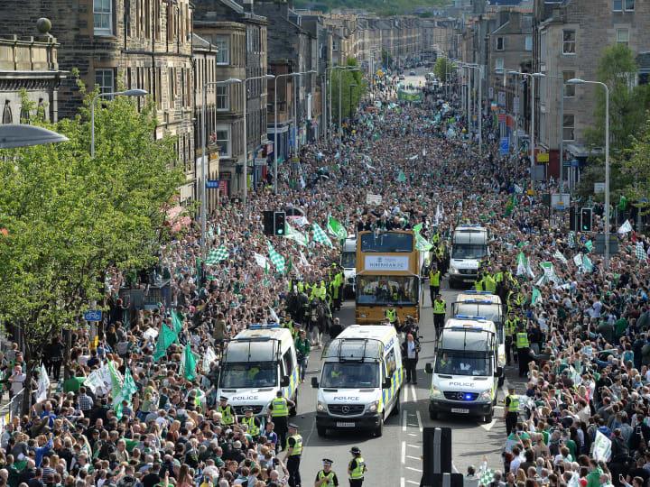 Hibernian Parade to celebrate winning William Hill Scottish Cup