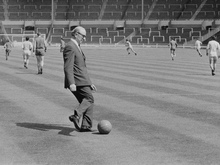 Matt Busby at Wembley Stadium