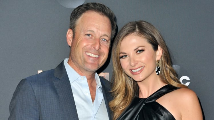 'The Bachelor' host Chris Harrison with girlfriend Lauren Zima, who might've dropped spoiler on Twitter