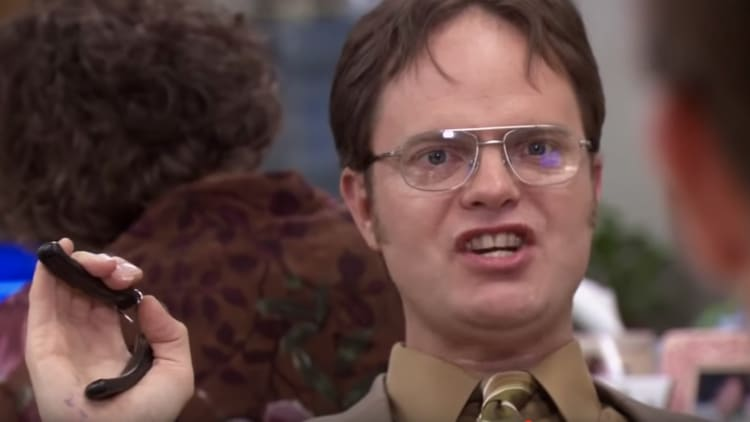 Dwight Schrute, played by Rainn Wilson, in 'The Office'