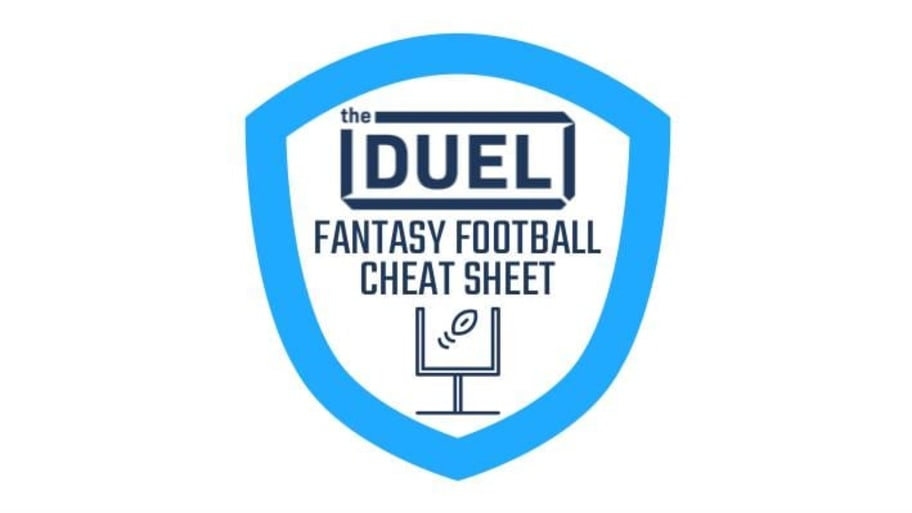 photo relating to Fantasy Football Depth Chart Printable titled 2019 Myth Soccer Cheat Sheet