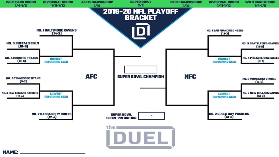 Selective image in printable playoff bracket