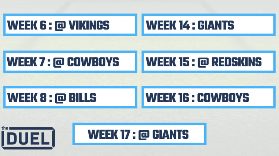 image relating to Nfl Week 16 Printable Schedule named 2019 Printable NFL Schedules for NFC East Groups
