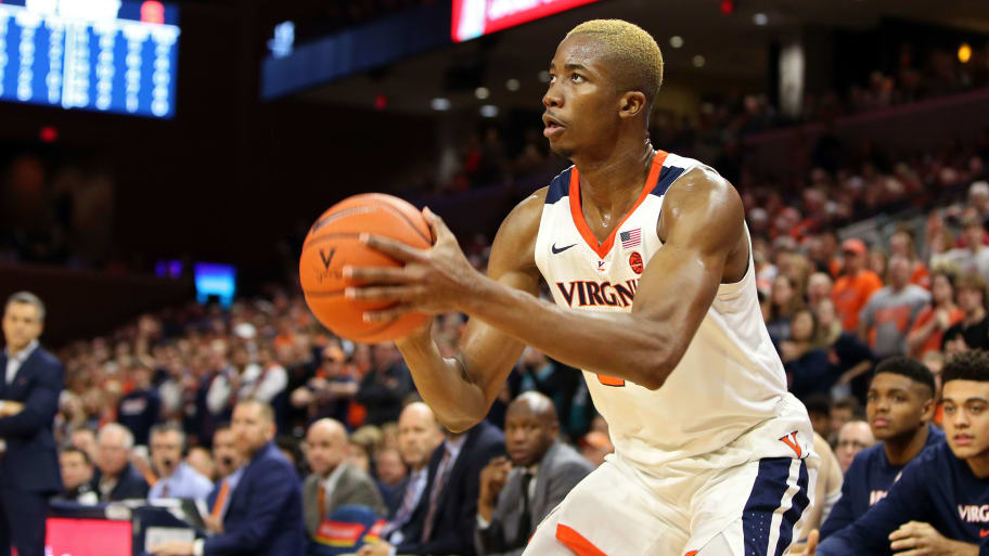 Virginia's redshirt senior big man, Mamadi Diakite played very well in his team's win over Florida State.  (Photo: Ryan M. Kelly/Getty Images, via FanDuel.)