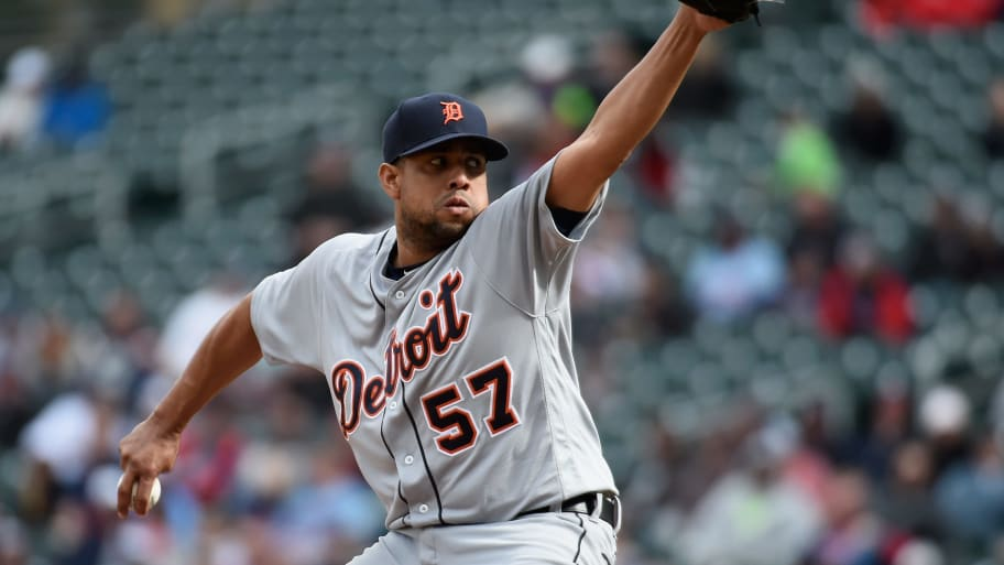 MINNEAPOLIS, MN - MAY 1: Francisco Rodriguez #57 of the Detroit Tigers delivers a pitch against the Minnesota Twins during the ninth inning of the game on May 1, 2016 at Target Field in Minneapolis, Minnesota. The Tigers defeated the Twins 6-5. (Photo by Hannah Foslien/Getty Images)