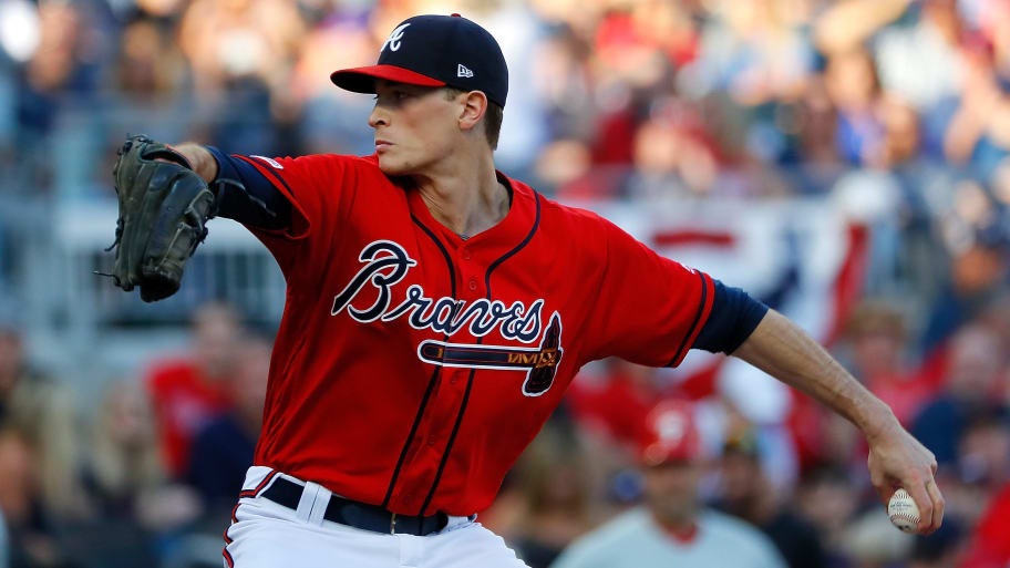 ATLANTA, GEORGIA - JUNE 14:  Max Fried #54 of the Atlanta Braves pitches in the first inning against the Philadelphia Phillies at SunTrust Park on June 14, 2019 in Atlanta, Georgia. (Photo by Kevin C. Cox/Getty Images)