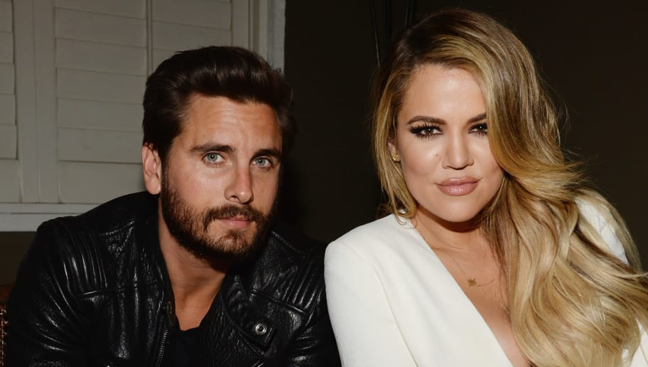 LOS ANGELES, CA - APRIL 23:  TV personalities Scott Disick (L) and Khloe Kardashian attend Opening Ceremony and Calvin Klein Jeans' celebration launch of the #mycalvins Denim Series with special guest Kendall Jenner at Chateau Marmont on April 23, 2015 in Los Angeles, California.  (Photo by Chris Weeks/Getty Images for Calvin Klein)