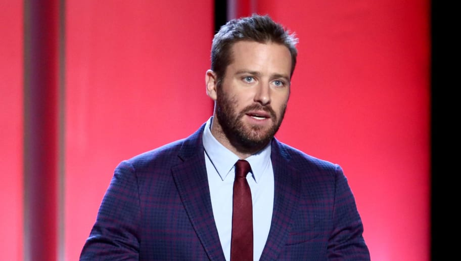 SANTA MONICA, CALIFORNIA - FEBRUARY 23: Armie Hammer speaks onstage during the 2019 Film Independent Spirit Awards on February 23, 2019 in Santa Monica, California. (Photo by Tommaso Boddi/Getty Images)
