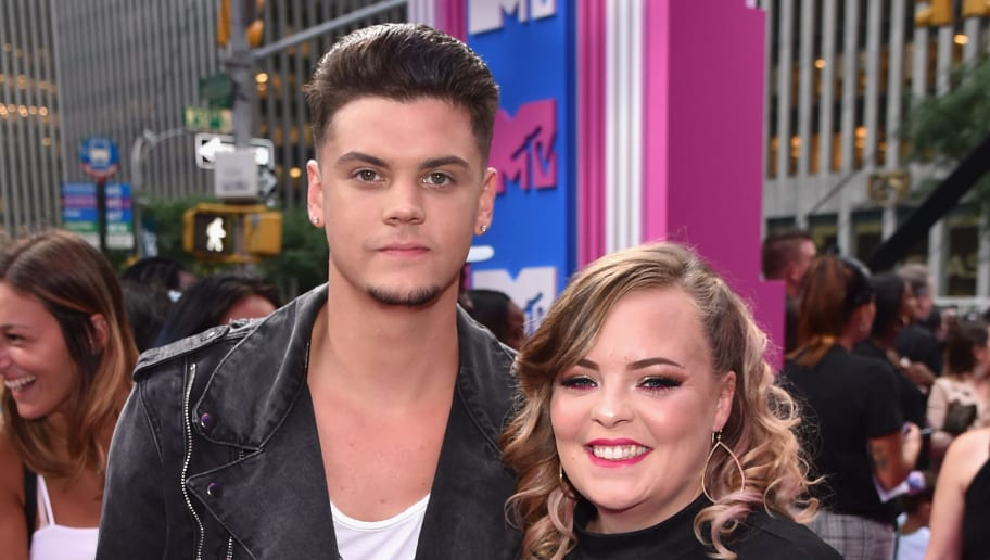 NEW YORK, NY - AUGUST 20:  Tyler Baltierra (L) and Catelynn Baltierra attend the 2018 MTV Video Music Awards at Radio City Music Hall on August 20, 2018 in New York City.  (Photo by John Shearer/Getty Images for MTV)