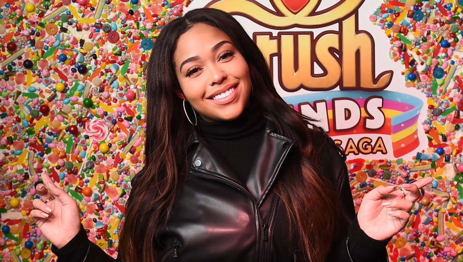 NEW YORK, NY - FEBRUARY 06:  Jordyn Woods attends the Candy Crush Friends Saga 'Sweet n Solo' Valentine's Day Dining Experience at Dirt Candy on February 6, 2019 in New York City.  (Photo by Ilya S. Savenok/Getty Images for King Games)
