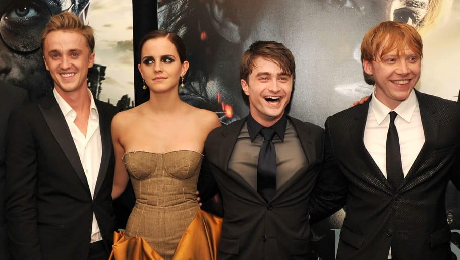 NEW YORK, NY - JULY 11:  (L-R) Tom Felton, Emma Watson, Daniel Radcliffe and Rupert Grint attend the New York premiere of 'Harry Potter And The Deathly Hallows: Part 2' at Avery Fisher Hall, Lincoln Center on July 11, 2011 in New York City.  (Photo by Stephen Lovekin/Getty Images)