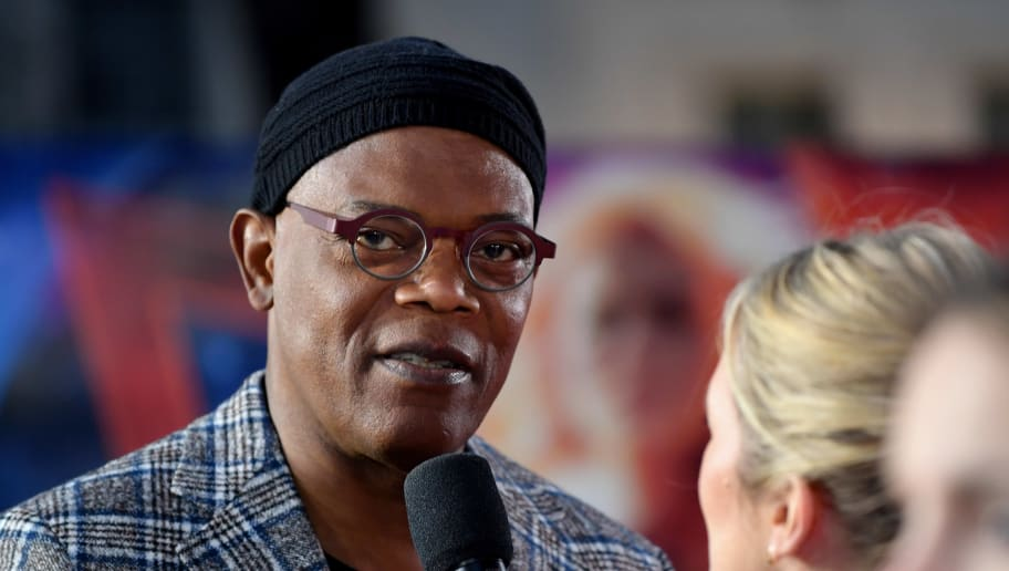 LONDON, ENGLAND - FEBRUARY 27:  Samuel L. Jackson attends the UK Gala Screening of Marvel Studios' 'Captain Marvel' at The Curzon Mayfair on February 27, 2019 in London, England. (Photo by Gareth Cattermole/Gareth Cattermole/Getty Images for Disney)