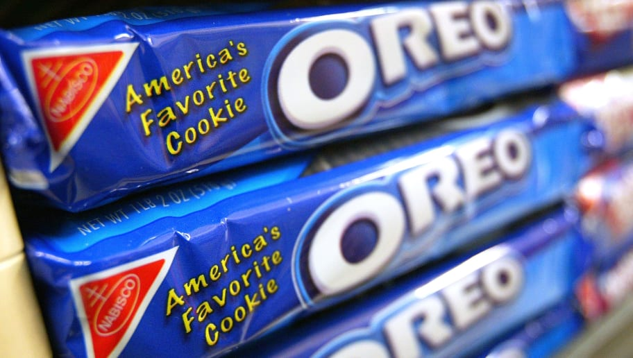 SAN FRANCISCO - MAY 13:  Oreo Cookies are seen May 13, 2003 in San Francisco. Attorney Stephen Joseph filed a lawsuit in the Marin County Superior Court May 1, 2003 seeking a ban on Oreo Cookies in California arguing that the trans fats that make the filling creamy and cookie crunchy are dangerous for children to eat. (Photo by Justin Sullivan/Getty Images)