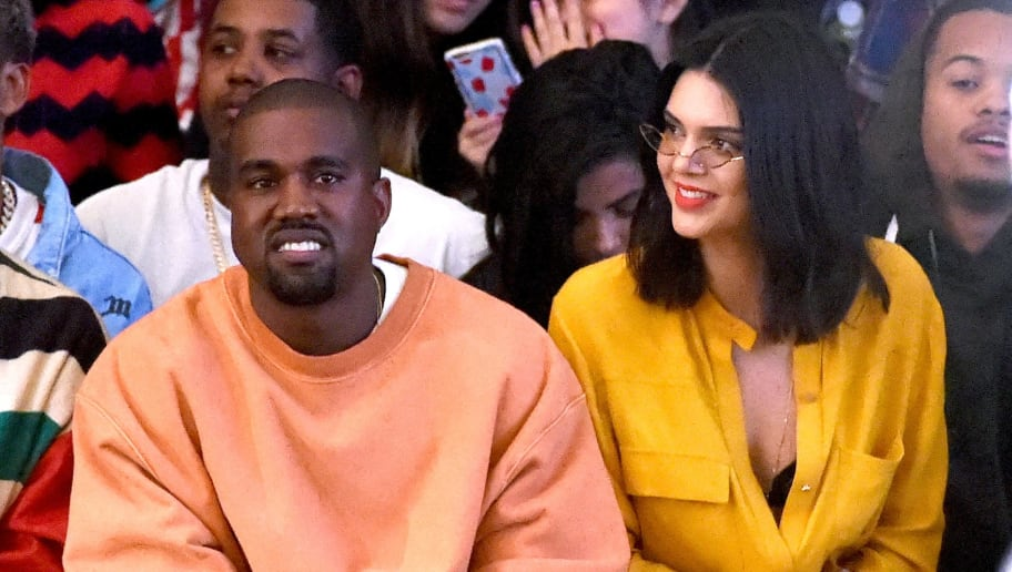 LOS ANGELES, CA - JUNE 11:  Hip hop artist/designer/producer Kanye West (L) and model Kendall Jenner attend Tyler, the Creator's fashion show for Made LA at L.A. Live on June 11, 2016 in Los Angeles, California.  (Photo by Kevin Winter/Getty Images)