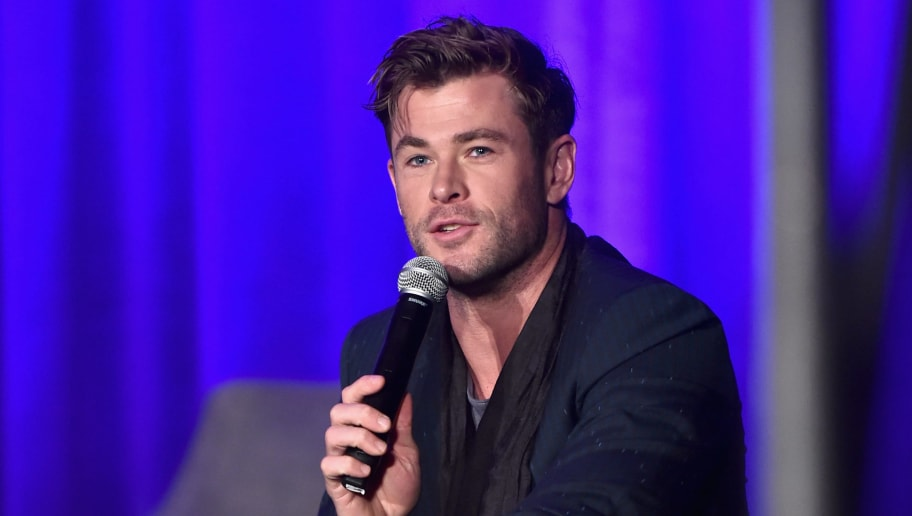 LOS ANGELES, CA - APRIL 07: (EDITORS NOTE: Retransmission with alternate crop.) Chris Hemsworth speaks onstage during Marvel Studios' 'Avengers: Endgame' Global Junket Press Conference at the InterContinental Los Angeles Downtown on April 7, 2019 in Los Angeles, California.  (Photo by Alberto E. Rodriguez/Getty Images for Disney)
