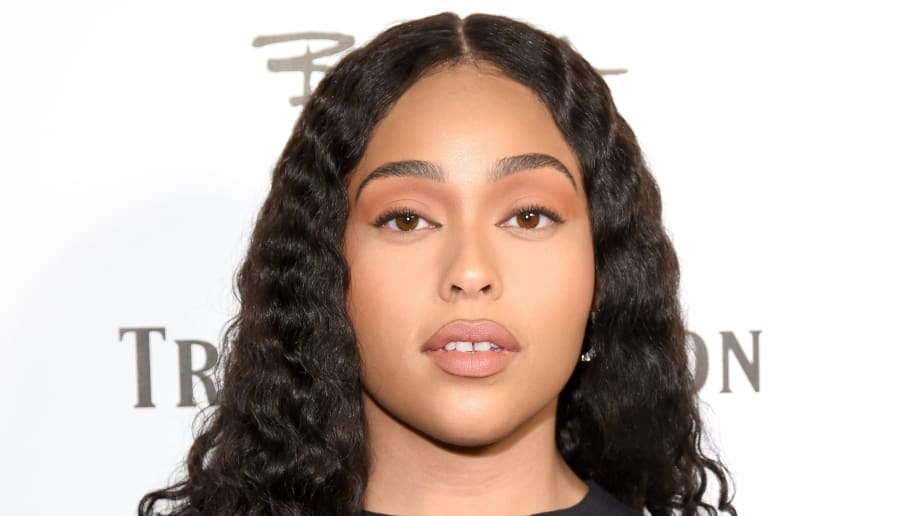 LOS ANGELES, CA - OCTOBER 18:  Jordyn Woods attends Bella Hadid x True Religion Event Campaign Party at Poppy on October 18, 2018 in Los Angeles, California.  (Photo by Presley Ann/Getty Images for True Religion )