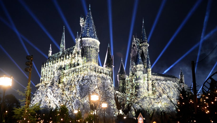 ORLANDO, FL - JANUARY 26:  A general view of The Nighttime Lights at Hogwarts Castle in The Wizarding World of Harry Potter during the annual 'A Celebration of Harry Potter' at Universal Orlando on January 26, 2018 in Orlando, Florida.  (Photo by Gerardo Mora/Getty Images)