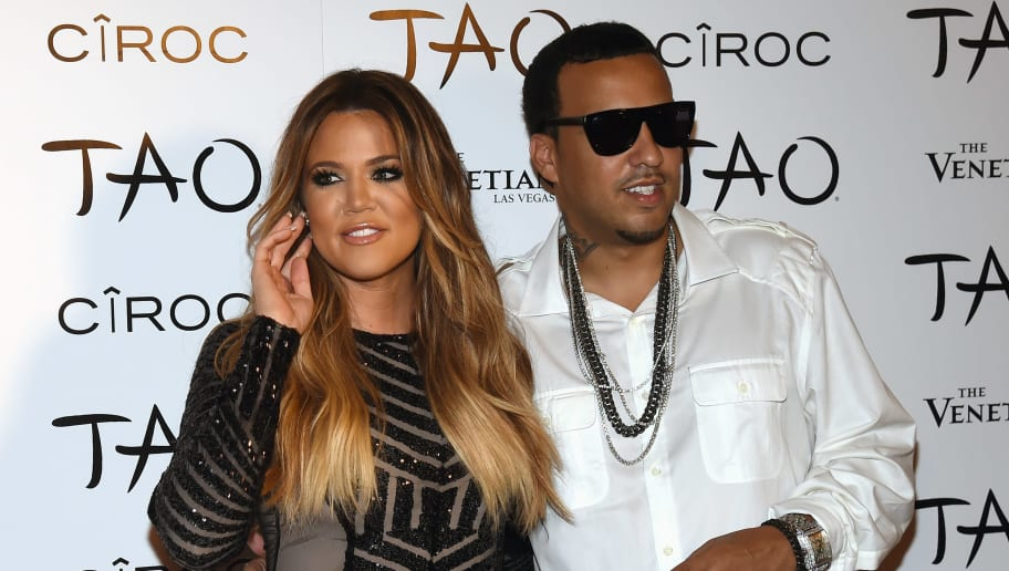 LAS VEGAS, NV - JULY 04:  Television personality Khloe Kardashian (L) and rapper French Montana arrive at the Tao Nightclub at The Venetian Las Vegas to celebrate her birthday on July 4, 2014 in Las Vegas, Nevada. Kardashian turned 30 on June 27.  (Photo by Ethan Miller/Getty Images)
