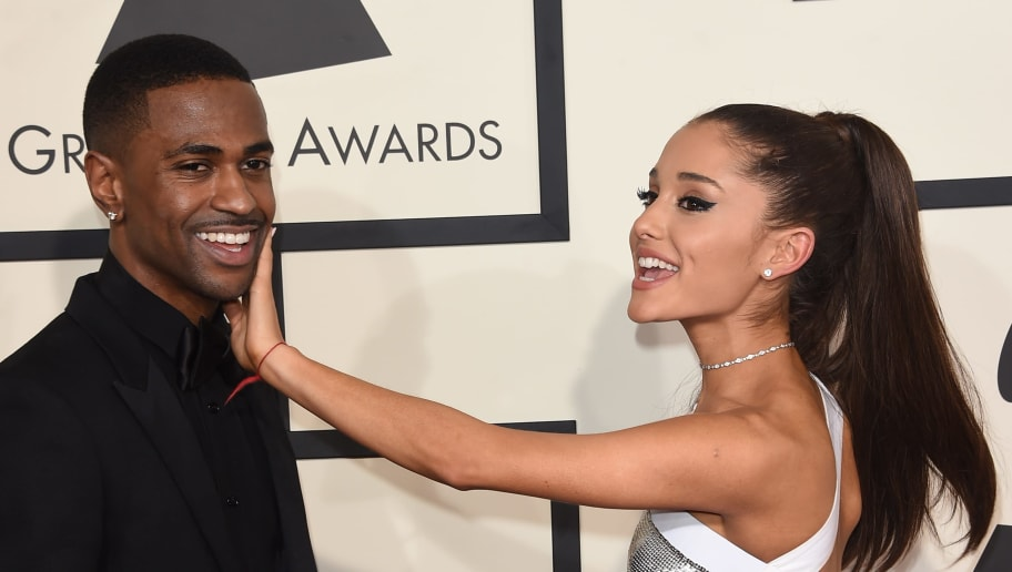 LOS ANGELES, CA - FEBRUARY 08:  Singers Ariana Grande and Big Sean  attend The 57th Annual GRAMMY Awards at the STAPLES Center on February 8, 2015 in Los Angeles, California.  (Photo by Jason Merritt/Getty Images)