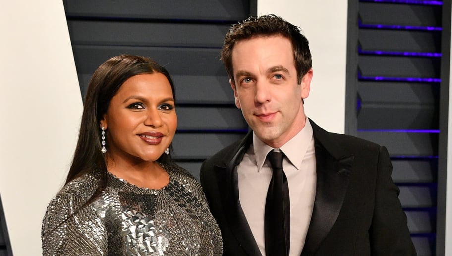 BEVERLY HILLS, CA - FEBRUARY 24:  Mindy Kaling (L) and B.J. Novak attend the 2019 Vanity Fair Oscar Party hosted by Radhika Jones at Wallis Annenberg Center for the Performing Arts on February 24, 2019 in Beverly Hills, California.  (Photo by Dia Dipasupil/Getty Images)
