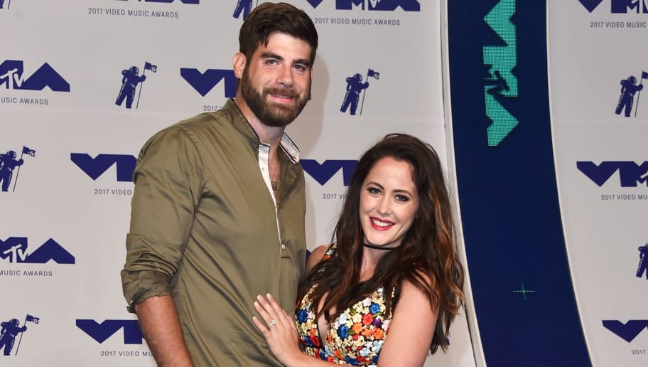INGLEWOOD, CA - AUGUST 27:  David Eason (L) and Jenelle Evans attend the 2017 MTV Video Music Awards at The Forum on August 27, 2017 in Inglewood, California.  (Photo by Alberto E. Rodriguez/Getty Images)