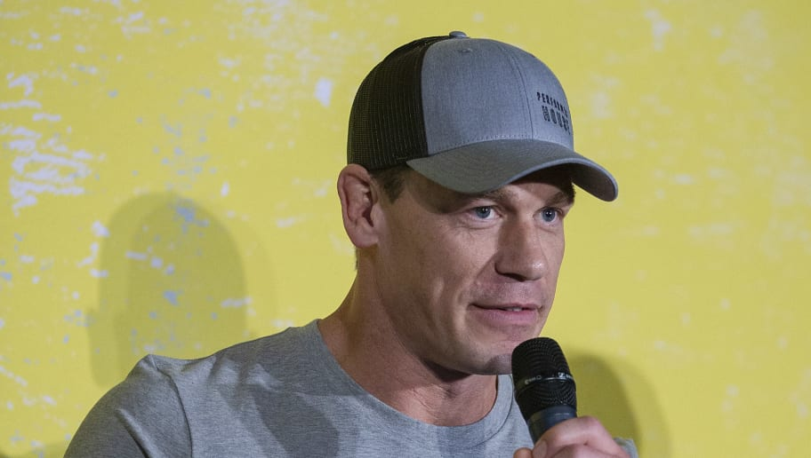 BENTONVILLE, ARKANSAS - MAY 11: John Cena speaks at the FitOps panel at the 5th Annual Bentonville Film Festival  on May 11, 2019 in Bentonville, Arkansas. (Photo by Tasos Katopodis/Getty Images for Bentonville Film Festival)
