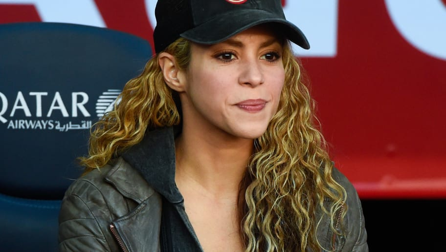 BARCELONA, SPAIN - NOVEMBER 28:  Shakira looks on ahead of the La Liga match between FC Barcelona and Real Sociedad de Futbol at Camp Nou on November 28, 2015 in Barcelona, Spain.  (Photo by David Ramos/Getty Images)