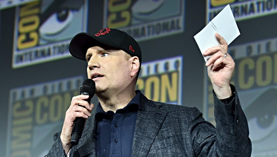 SAN DIEGO, CALIFORNIA - JULY 20: President of Marvel Studios Kevin Feige at the San Diego Comic-Con International 2019 Marvel Studios Panel in Hall H on July 20, 2019 in San Diego, California. (Photo by Alberto E. Rodriguez/Getty Images for Disney)