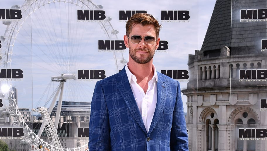 LONDON, ENGLAND - JUNE 02:  Chris Hemsworth attends the Men in Black: International photocall at The Corinthia Hotel on June 02, 2019 in London, England. (Photo by Jeff Spicer/Getty Images for Sony Pictures Entertainment)
