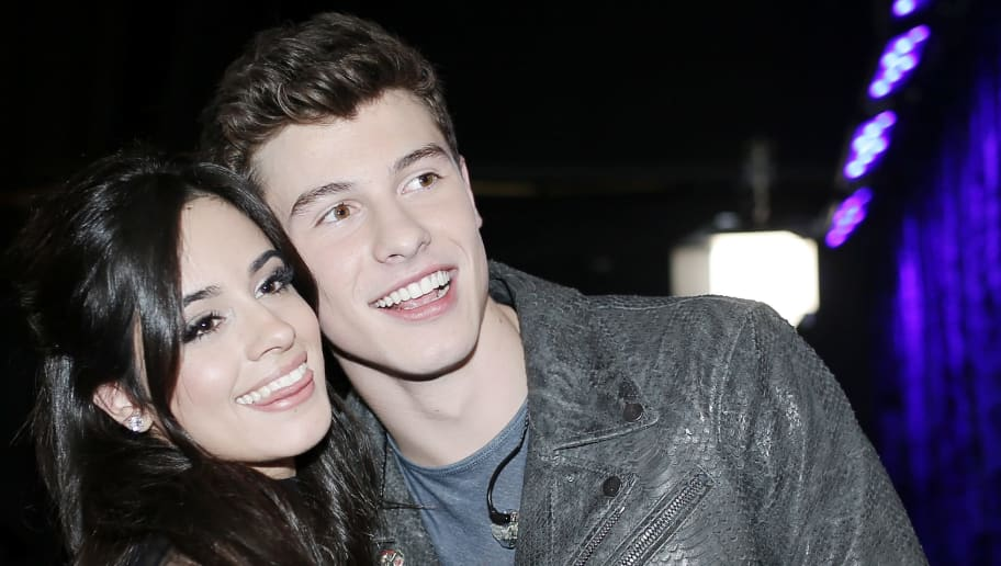 LOS ANGELES, CA - JANUARY 06: Singers Camila Cabello of Fifth Harmony (L) and Shawn Mendes attend the People's Choice Awards 2016 at Microsoft Theater on January 6, 2016 in Los Angeles, California.  (Photo by Mike Windle/Getty Images for The People's Choice Awards)