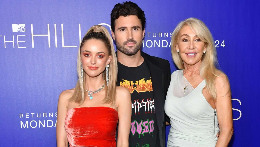 """LOS ANGELES, CALIFORNIA - JUNE 19: Kaitlynn Carter Jenner, Brody Jenner and Linda Thompson attend the premiere of MTV's """"The Hills: New Beginnings"""" at Liaison on June 19, 2019 in Los Angeles, California. (Photo by Amy Sussman/Getty Images)"""