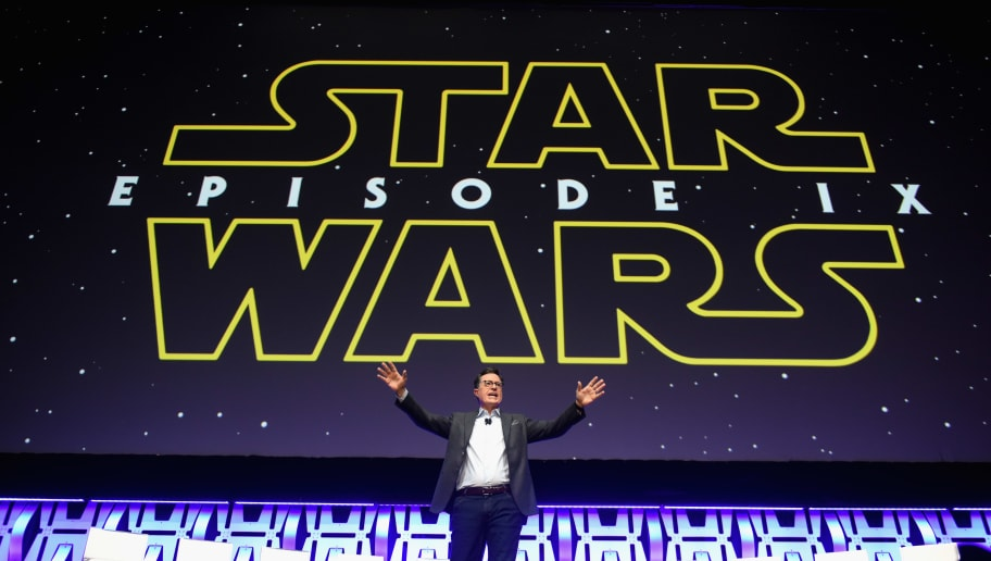 """CHICAGO, IL - APRIL 12:  Stephen Colbert onstage during """"The Rise of Skywalker"""" panel at the Star Wars Celebration at McCormick Place Convention Center on April 12, 2019 in Chicago, Illinois.  (Photo by Daniel Boczarski/Getty Images for Disney )"""