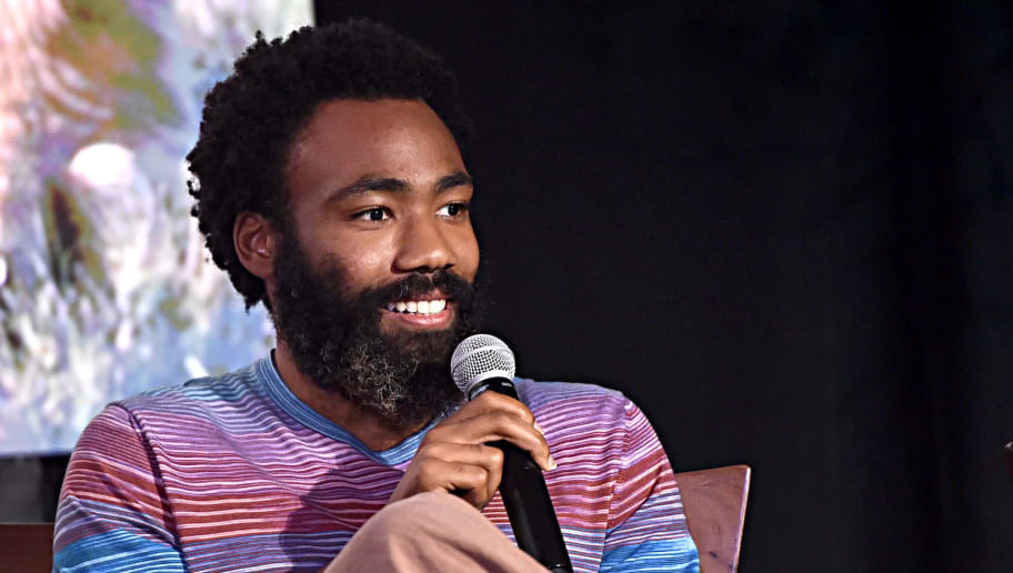 BEVERLY HILLS, CALIFORNIA - JULY 10: (EDITORS NOTE: Retransmission with alternate crop.) Donald Glover attends the Global Press Conference for Disney's THE LION KING on July 10, 2019 in Beverly Hills, California. (Photo by Alberto E. Rodriguez/Getty Images for Disney)