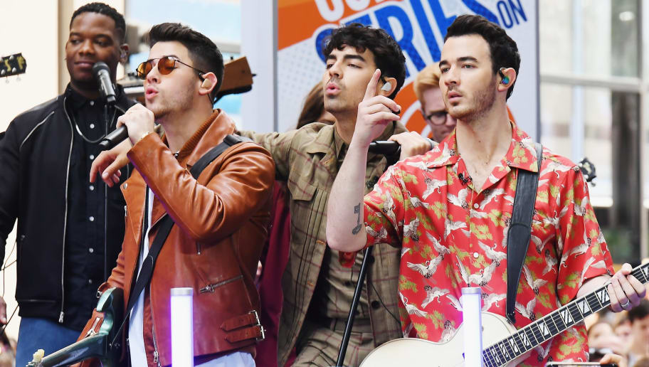 "NEW YORK, NEW YORK - JUNE 07: The Jonas Brothers Perfom On NBC's ""Today"" at Rockefeller Plaza on June 07, 2019 in New York City. (Photo by Nicholas Hunt/Getty Images)"
