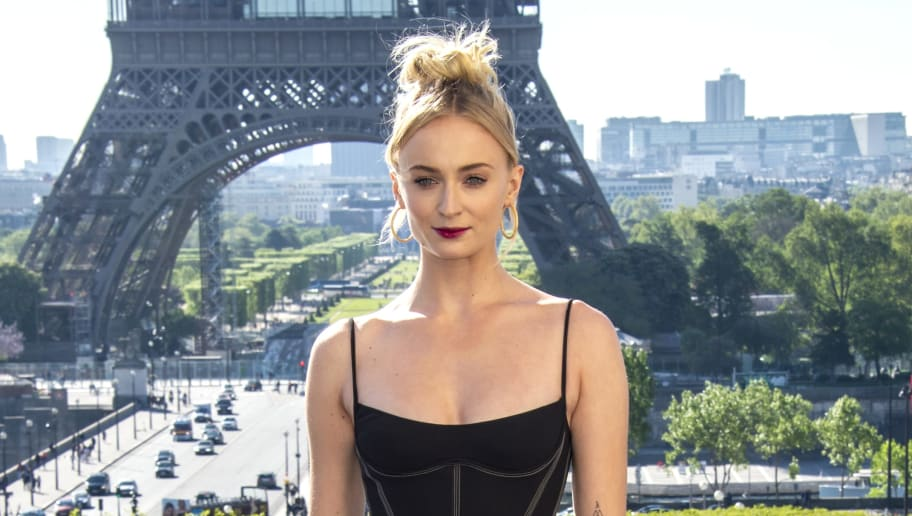 "PARIS, FRANCE - APRIL 26: (L-R) Actress Sophie Turner attends the ""X-Men Dark Phoenix""  Photocall At Cafe De L'Homme  on April 26, 2019 in Paris, France. (Photo by Kristy Sparow/Getty Images For Twentieth Century Fox)"