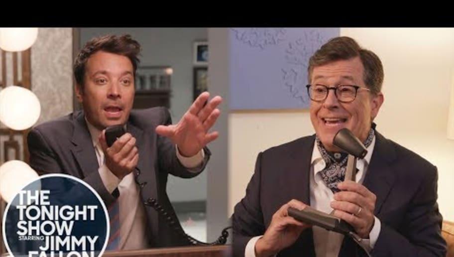 VIDEO: Jimmy Fallon and Stephen Colbert Recreate 'NeverEnding Story' Scene From 'Stranger Things'