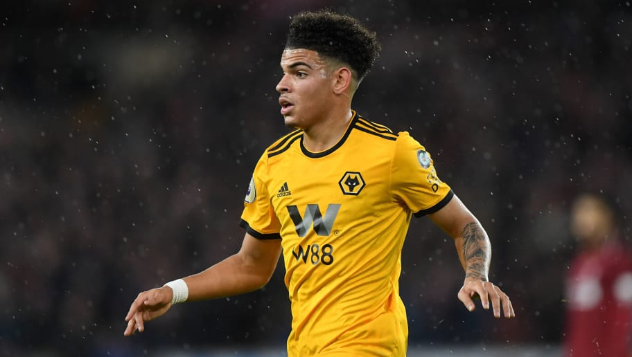 WOLVERHAMPTON, ENGLAND - DECEMBER 21: Morgan Gibbs-White of Wolverhampton Wanderers during the Premier League match between Wolverhampton Wanderers and Liverpool FC at Molineux on December 21, 2018 in Wolverhampton, United Kingdom. (Photo by Sam Bagnall - AMA/Getty Images)