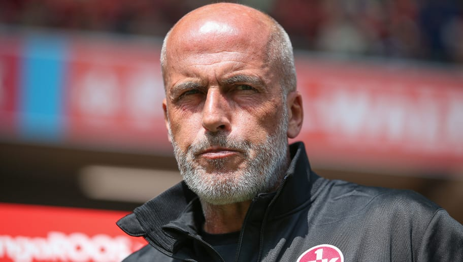 KAISERSLAUTERN, GERMANY - AUGUST 25: Head coach Michael Frontzeck of Kaiserslautern looks on ahead of the 3. Liga match between 1. FC Kaiserslautern and Karlsruher SC at Fritz-Walter-Stadion on August 25, 2018 in Kaiserslautern, Germany. (Photo by Christian Kaspar-Bartke/Bongarts/Getty Images)