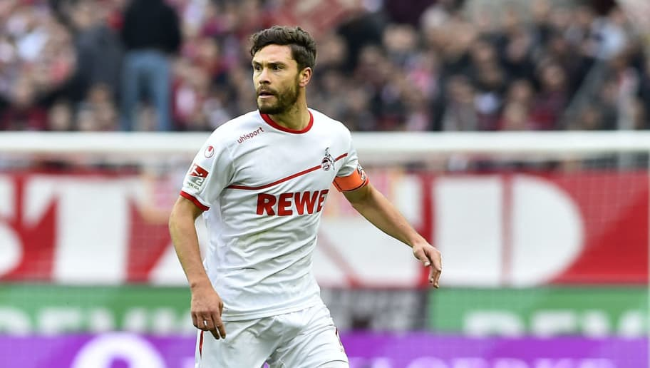 COLOGNE, GERMANY - OCTOBER 27: Jonas Hector of FC Koeln controls the ball during the Second Bundesliga match between 1. FC Koeln and 1. FC Heidenheim 1846 at RheinEnergieStadion on October 27, 2018 in Cologne, Germany. (Photo by TF-Images/Getty Images)