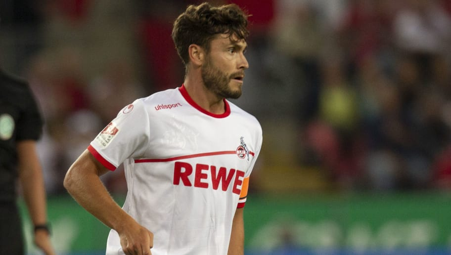 COLOGNE, GERMANY - AUGUST 13: Jonas Hector of Cologne drives the ball during the Second Bundesliga match between 1. FC Koeln and 1. FC Union Berlin at RheinEnergieStadion on August 13, 2018 in Cologne, Germany. (Photo by Juergen Schwarz/Bongarts/Getty Images)