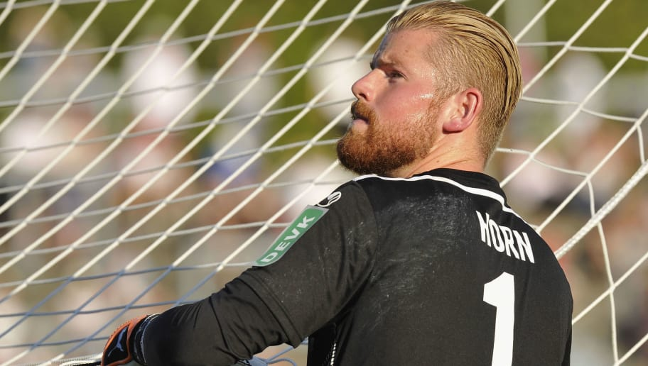 BONN, GERMANY - JULY 27: Goalkeeper Timo Horn of Koeln looks on during the pre-season friendly match between 1. FC Koeln and 1. FSV Mainz 05 at Sportpark Nord on July 27, 2018 in Bonn, Germany. (Photo by TF-Images/Getty Images)