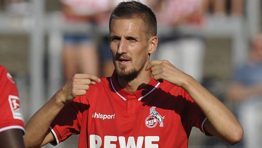 BONN, GERMANY - JULY 27: Dominick Drexler of Koeln gestures during the pre-season friendly match between 1. FC Koeln and 1. FSV Mainz 05 at Sportpark Nord on July 27, 2018 in Bonn, Germany. (Photo by TF-Images/Getty Images)