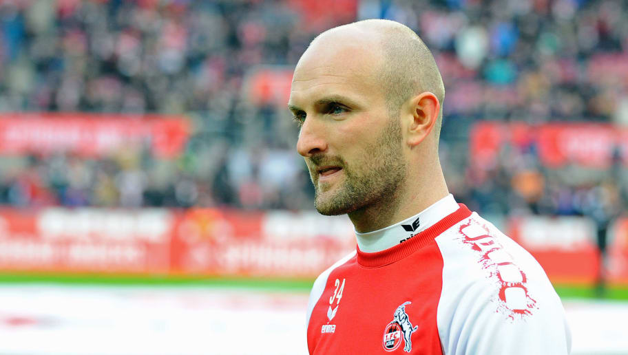 COLOGNE, GERMANY - JANUARY 14: Konstantin Rausch of Koeln looks on prior to the Bundesliga match between 1. FC Koeln and Borussia Moenchengladbach at RheinEnergieStadion on January 14, 2018 in Cologne, Germany. (Photo by TF-Images/TF-Images via Getty Images)