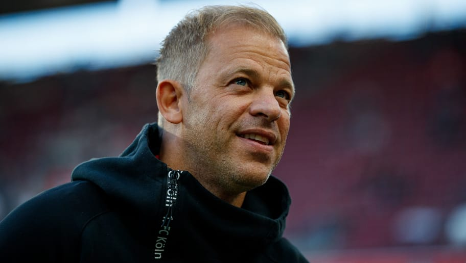 COLOGNE, GERMANY - SEPTEMBER 25:  Head coach Markus Anfang of Koeln is seen prior to the Second Bundesliga match between 1. FC Koeln and FC Ingolstadt 04 at RheinEnergieStadion on September 25, 2018 in Cologne, Germany.  (Photo by Lars Baron/Bongarts/Getty Images)