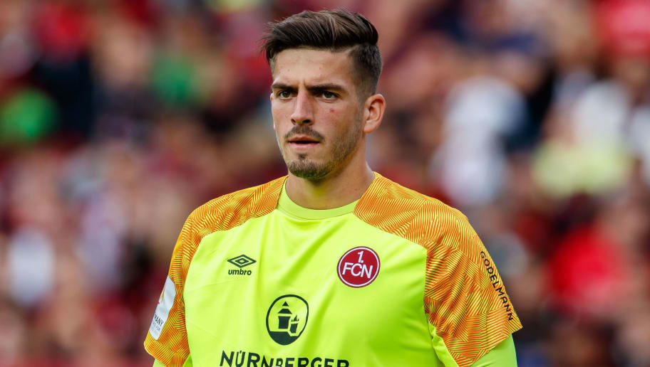 NUREMBERG, GERMANY - SEPTEMBER 22: Goalkeeper Fabian Bredlow of FC Nuernberg looks on during the Bundesliga match between 1. FC Nuernberg and Hannover 96 at Max-Morlock-Stadion on September 22, 2018 in Nuremberg, Germany. (Photo by TF-Images/Getty Images)
