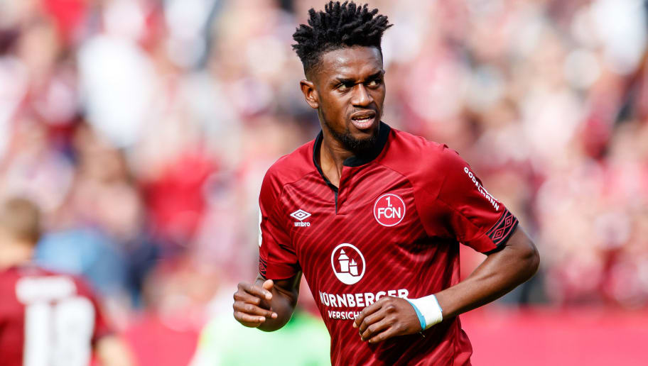 NUREMBERG, GERMANY - SEPTEMBER 22: Virgil Misidjan of FC Nuernberg looks on during the Bundesliga match between 1. FC Nuernberg and Hannover 96 at Max-Morlock-Stadion on September 22, 2018 in Nuremberg, Germany. (Photo by TF-Images/Getty Images)